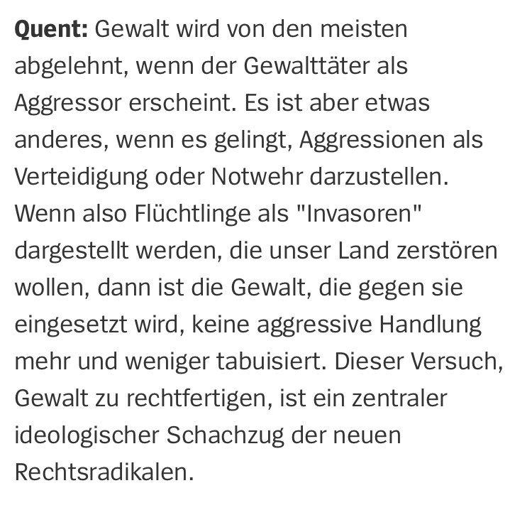 Der Soziologe @Matthias_Quent über die Rechtsradikalen in Chemnitz und ihre Mitläufer. https://t.co/fEwZMbdyiU