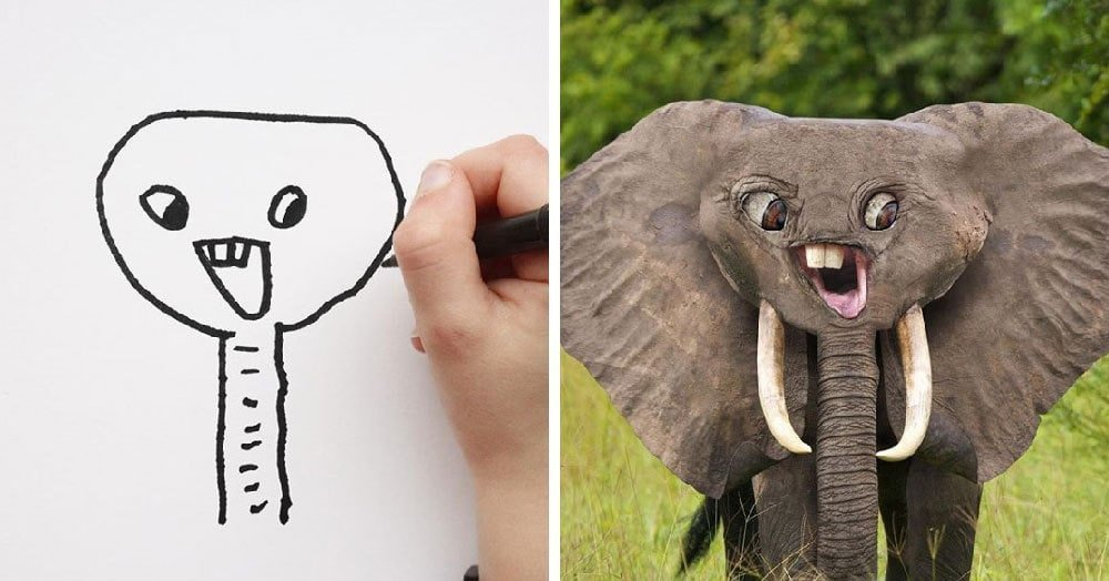 Картинки, смешные рисунки детей в реальной жизни