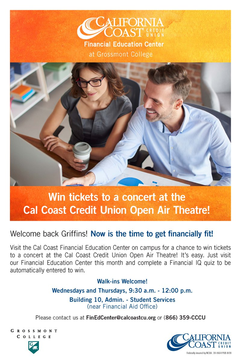California Coast Credit Union Locations >> Grossmont College On Twitter Win Tickets To A Concert At