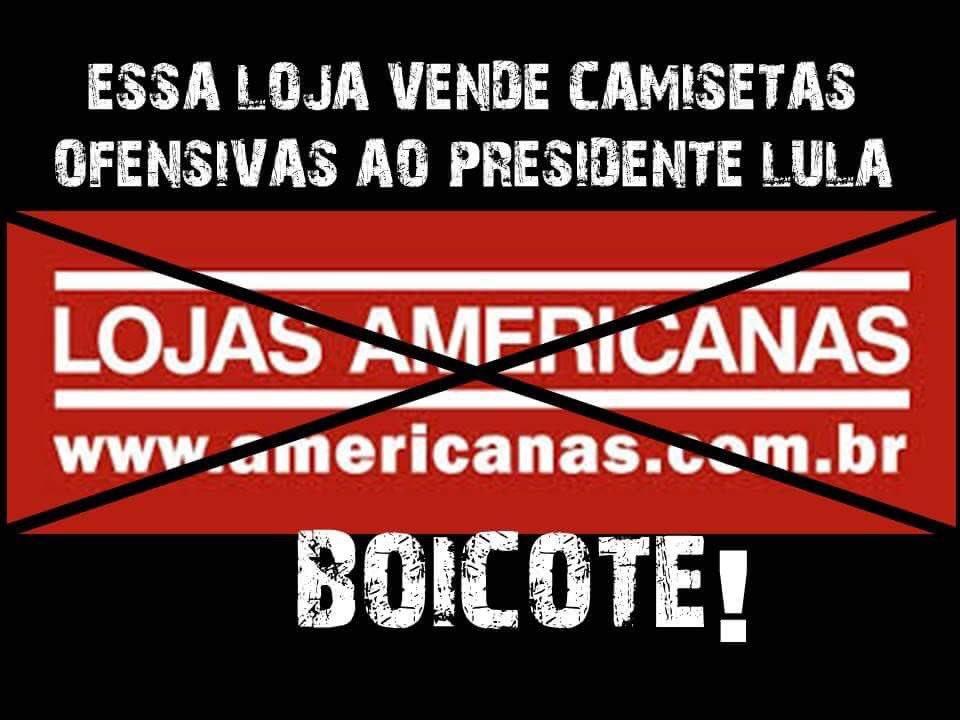 c35283371 Boicote as Lojas Americanas