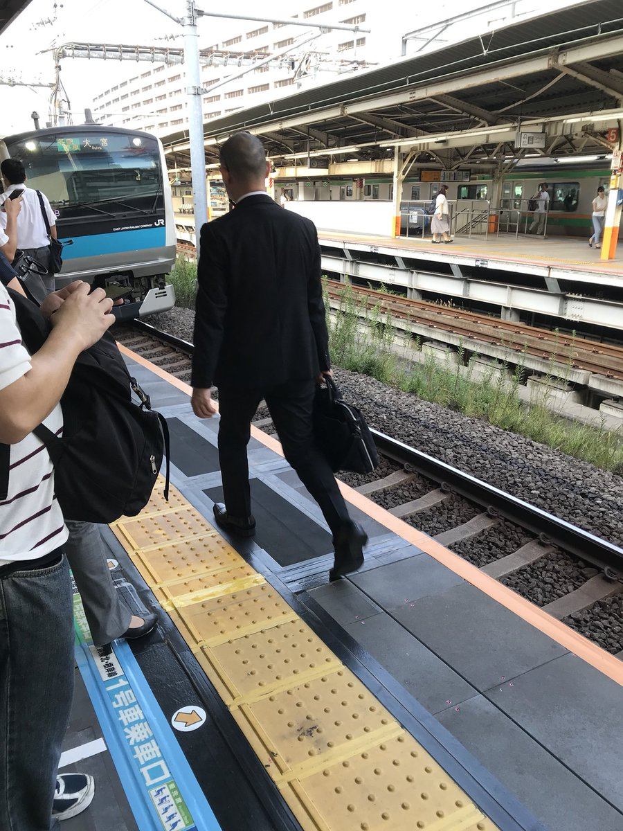 横浜駅で人身事故が起きた現場の画像