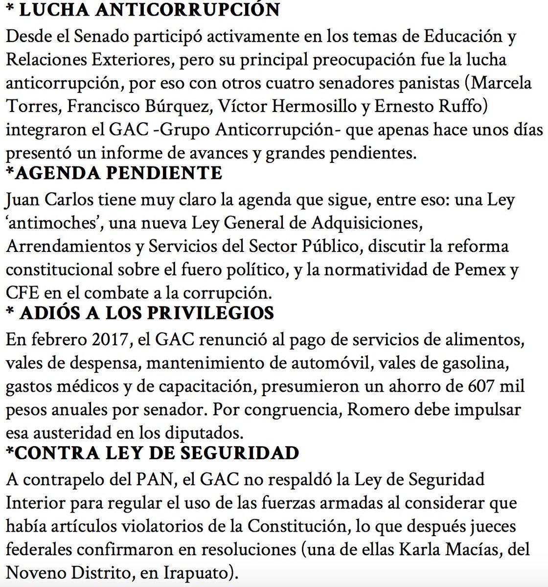 Tanto @JCRomeroHicks como @Marce_Torres7 y @RuffoAppel, integrantes del @GAC_Senado, continuarán con ese compromiso en las luchas pendientes en el combate a la corrupción. https://t.co/2thIB2eZoO