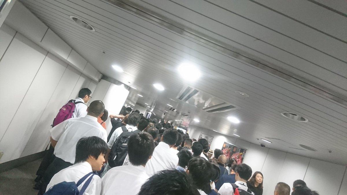 京浜東北線の人身事故で入場規制が掛かった横浜駅の現場の画像