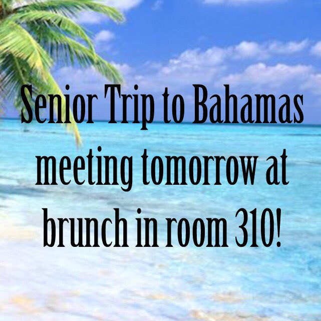 Come down tomorrow to learn more about this amazing trip! 🏖