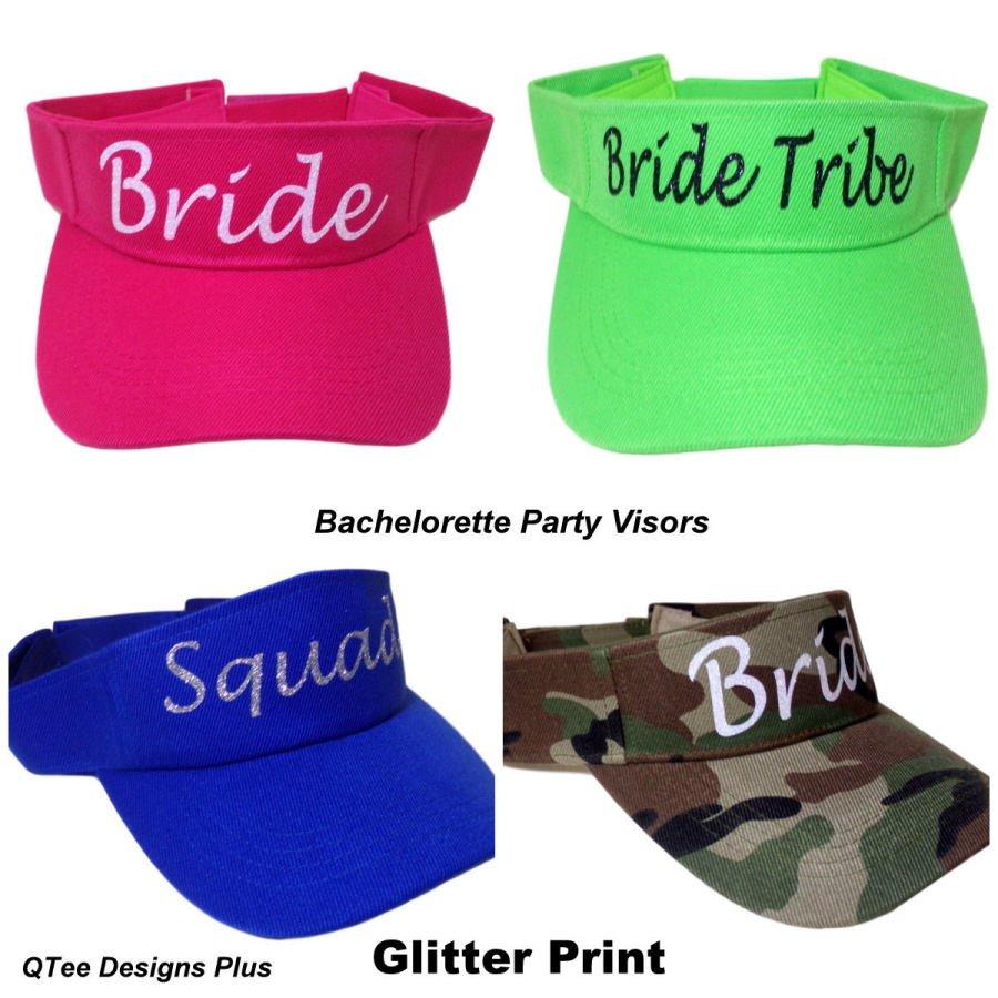 Qtee Designs Plus On Twitter Custom Printed Visors Glitter Bridal