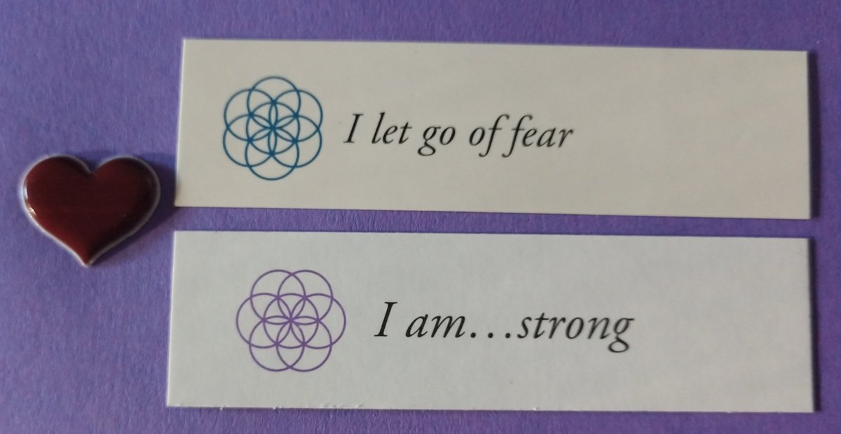 """test Twitter Media - Today's Positive Thoughts: I let go of fear and I am...strong. #affirmation Randomly selected from """"I am"""" and """"Letting Go"""" card sets. https://t.co/gZqbw1Pvlz"""