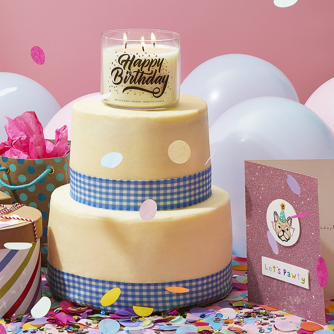 Eastwood Mall On Twitter Happy 28th Birthday Bathbodyworks Visit To Say With A Yummy Cake Inspired 3 Wick Candle