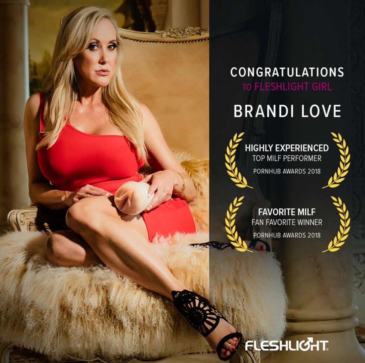 Brandi Love ® on Twitter: 🙏🏻 @pornhub for the awesome honor #Milf and @Fleshlight for providing