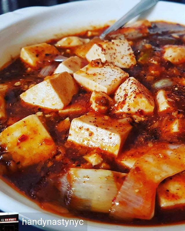 Amazing hot and spicy mapo tofu from @handynastynyc. 📸@mjhv00. #mapotofu #spicy #delicious https://t.co/fOmOVqa6gT https://t.co/4oumm8gIXH