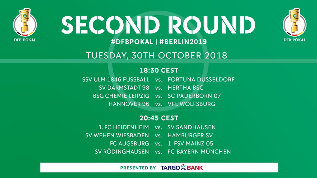 The Dfb Pokal On Twitter The Exact Schedule For The Second