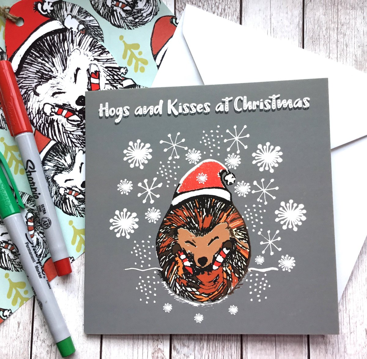 Slumbermonkey Design On Twitter Hedgehog Christmas Card Hogs And