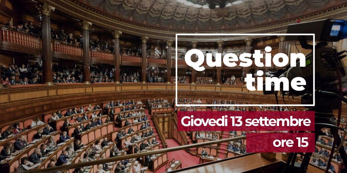 #QuestionTime. Oggi in Aula il Governo risponde a queste interrogazioni →  http:// www.senato.it/2767 Procedura prevista dall\