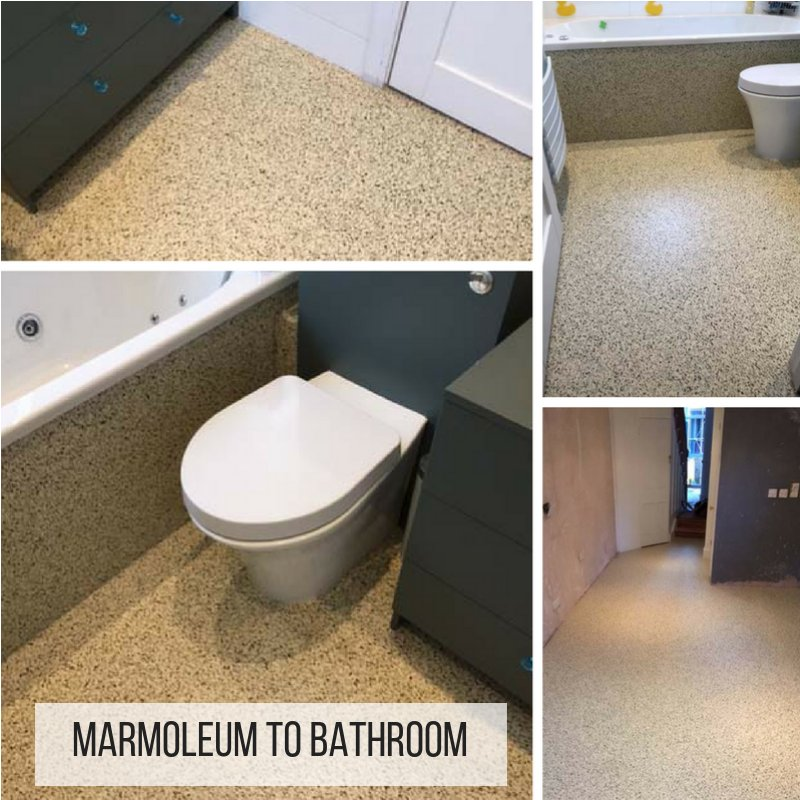 Marmoleum Installation To Bathroom In Central London Bitly 2MrHooE Flooring Forbo Interiordesign