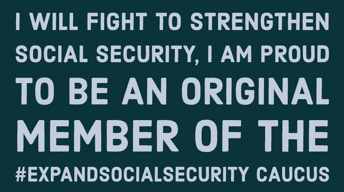 Today's COLA increase is good news for seniors, survivors & people w/ disabilities who have earned Social Security benefits. That's why I'm a founding member of #ExpandSocialSecurity Caucus to strengthen Social Security for all! Photo