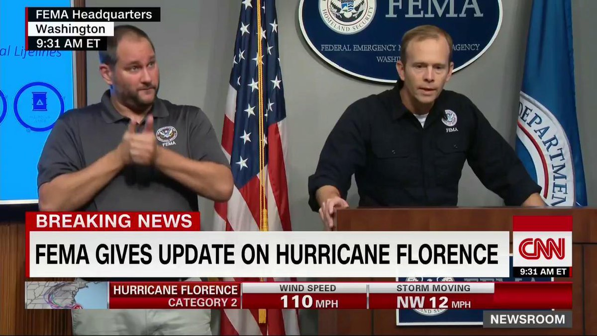 FEMA officials are holding a press briefing to give updates on Hurricane Florence Watch live: CNN.it/go Updates: cnn.it/2NepgEo