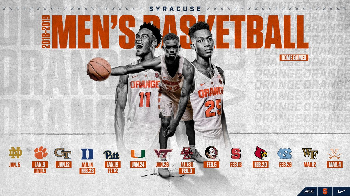 Syracuse Basketball On Twitter Schedule Alert Our Acc