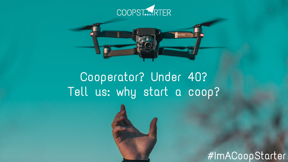 Are you a #CoopStarter? You could be the insipiration to hundreds of new young cooperative entrepreneurs across Europe #ImACoopStarter @CoopFR @les_scop @LesScopdelaCom @Coopaname @scopCoopetic @emicfd @cooppointcarre Via @jeunes2coop