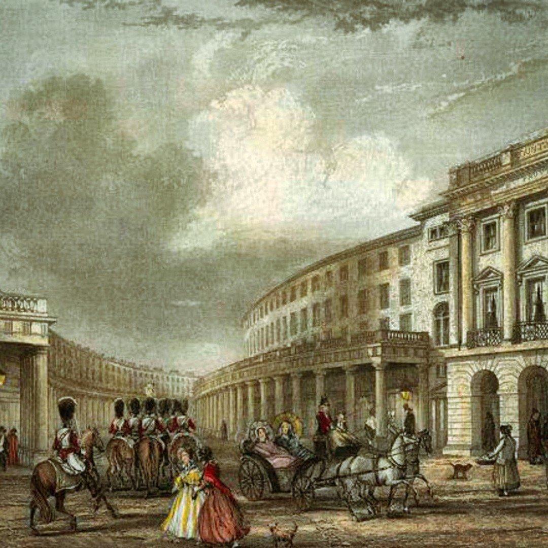Regent Street da Piccadilly Circus all'inizio del 1800, le case che vedete furono demolite, sembra che i portici attirassero i senza tetto #londra #storia #londranewsn#regentstreete#architetturaw#inghilterras#ottocento #disegno #granbretagna  https://t.co/IEgesYR8Il  …