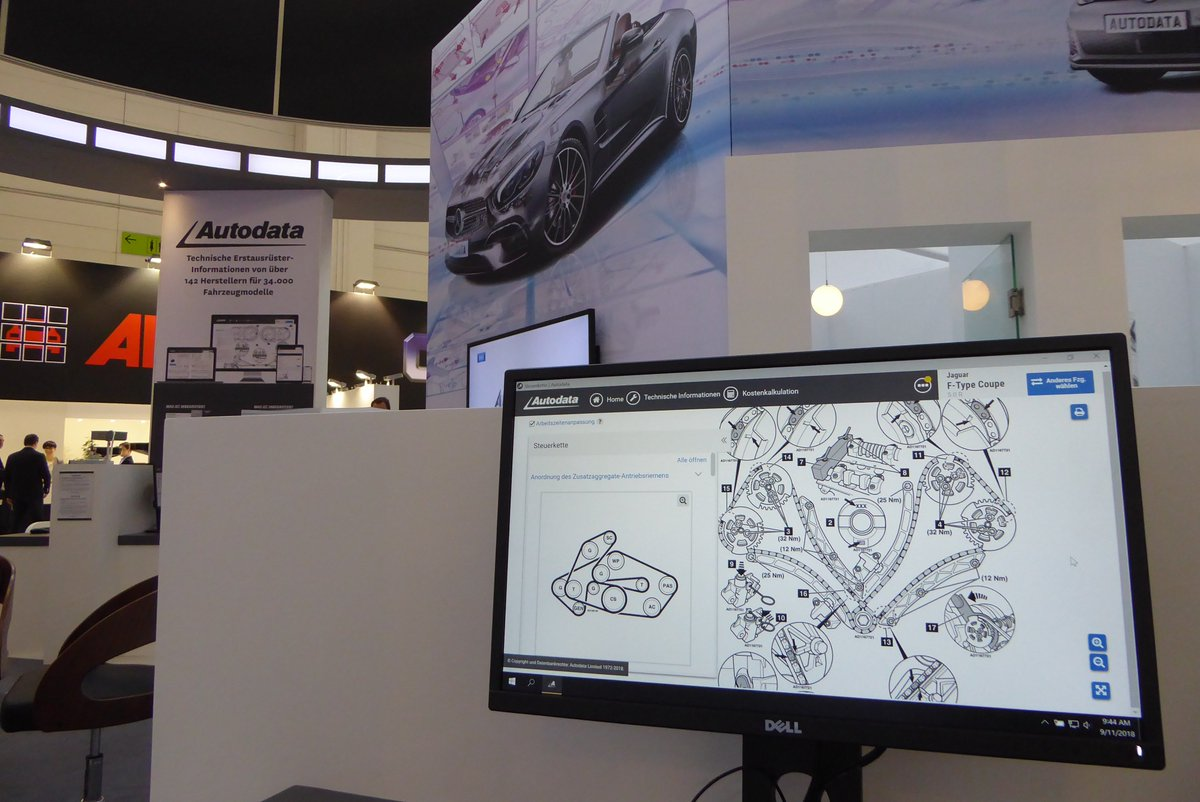 Automechanika 2018 - Hall 8 Stand M95 Did you know? Autodata has coverage of 99% of all vehicles on the road in the major EU countries. https://t.co/PZoOJTc9Gu