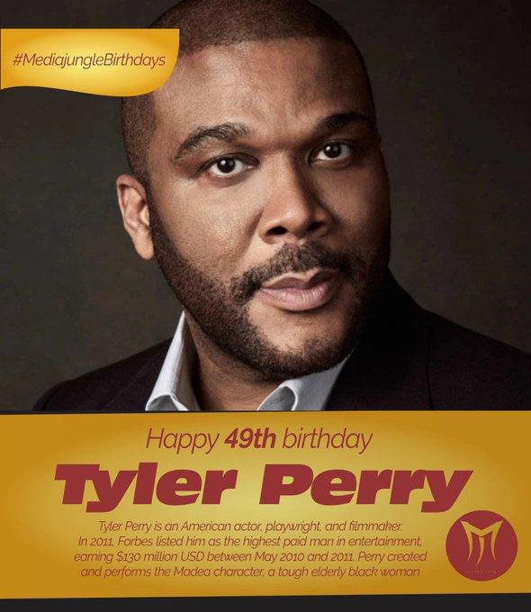 Happy 49th Birthday TylerPerry