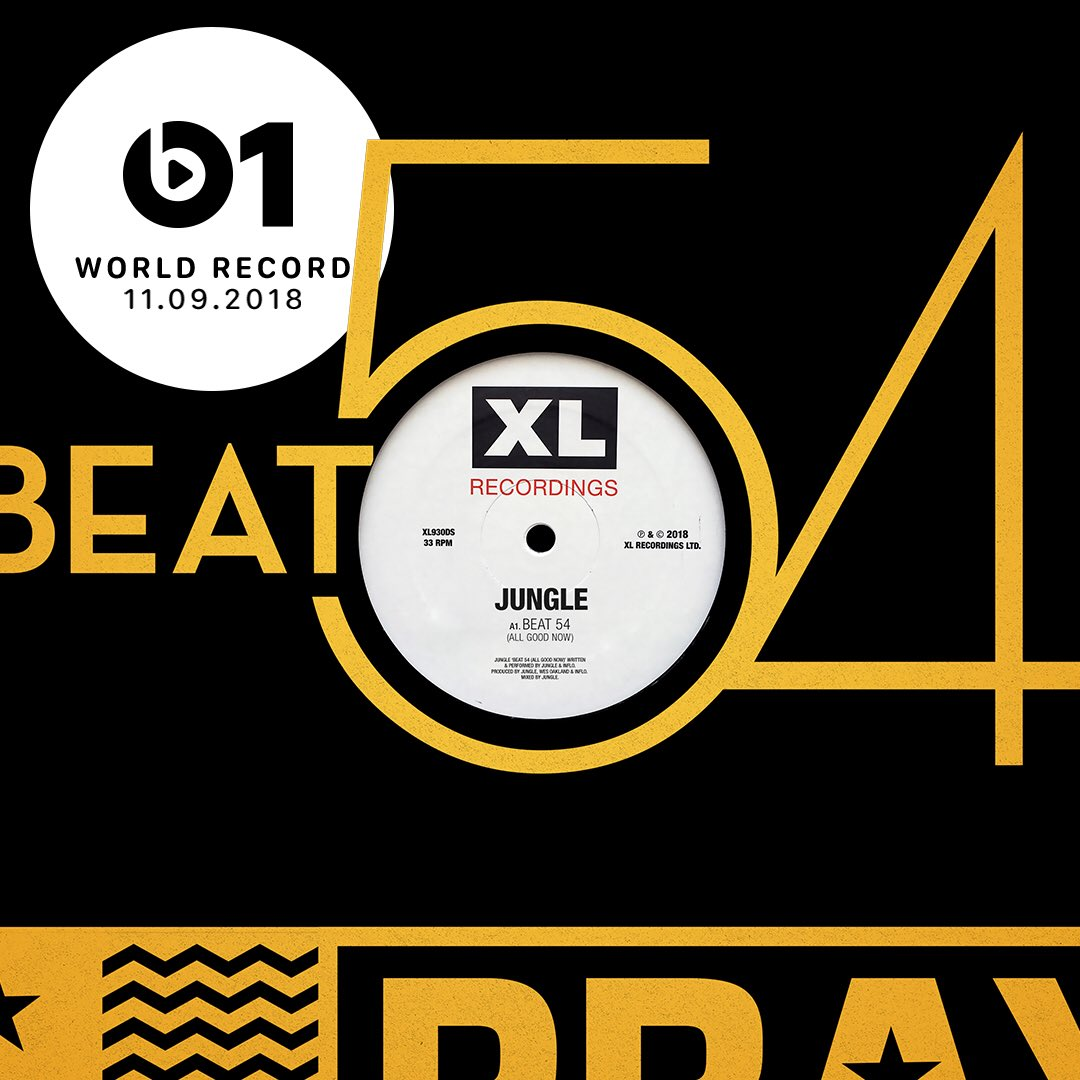 LOVE LOVE LOVE Today's #WorldRecord is 'Beat 54 (All Good Now)' from @jungle4eva 👉🏼📲 LISTEN apple.co/_Jungle