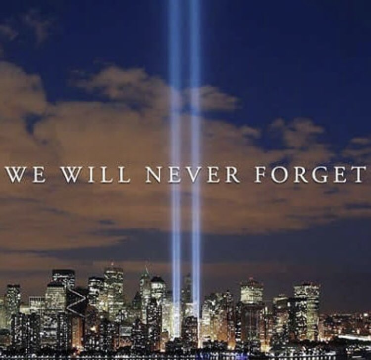 Remembering and honouring those who were lost on the day. 🙏#neverforget #911Memorial #911Anniversary