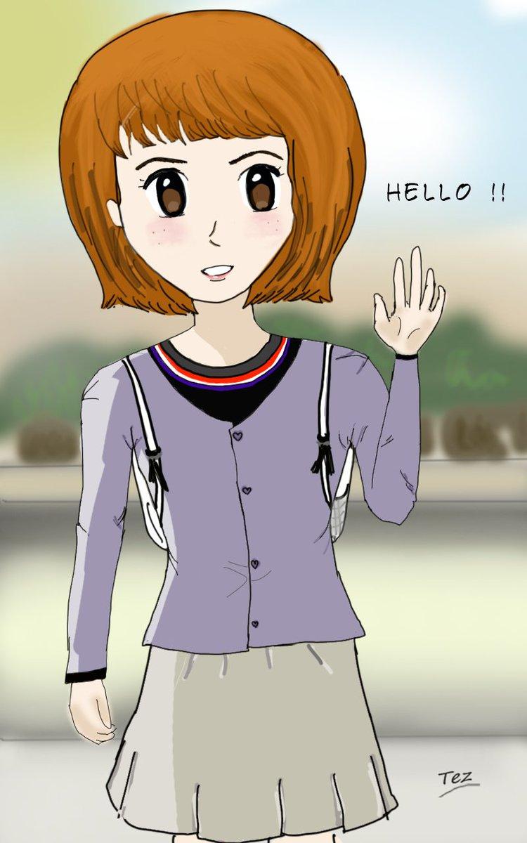 Arty0890 on twitter cute anime school girl 💕😍 animeart kawaii cutegirl animeoftheday