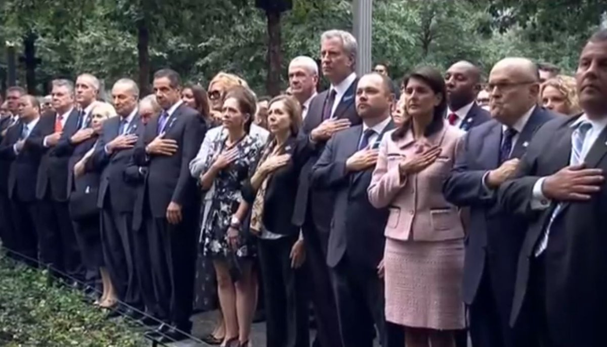 LIVE NOW: #911Memorial Service begins in #NYC. Watch live here https://t.co/dI9hW0TIYH