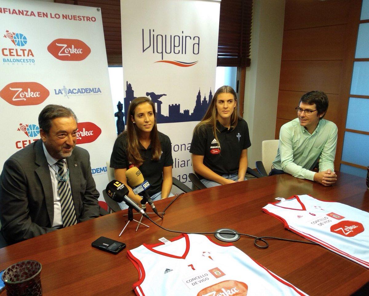 Presentación de Montero y Kjartansdóttir con el Celta Baloncesto (Foto: CB).