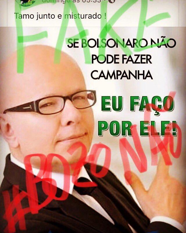 Atenção: eu NÃO apoio Bolsonaro! Esta é a propaganda FAKE onde eu apoiaria Jair Bolsonaro. Nunca apoiei, nem apoiaria quem agride mulheres, é homofóbico e trata com ignorância e desdém problemas sérios da nação #BolsonaroNão