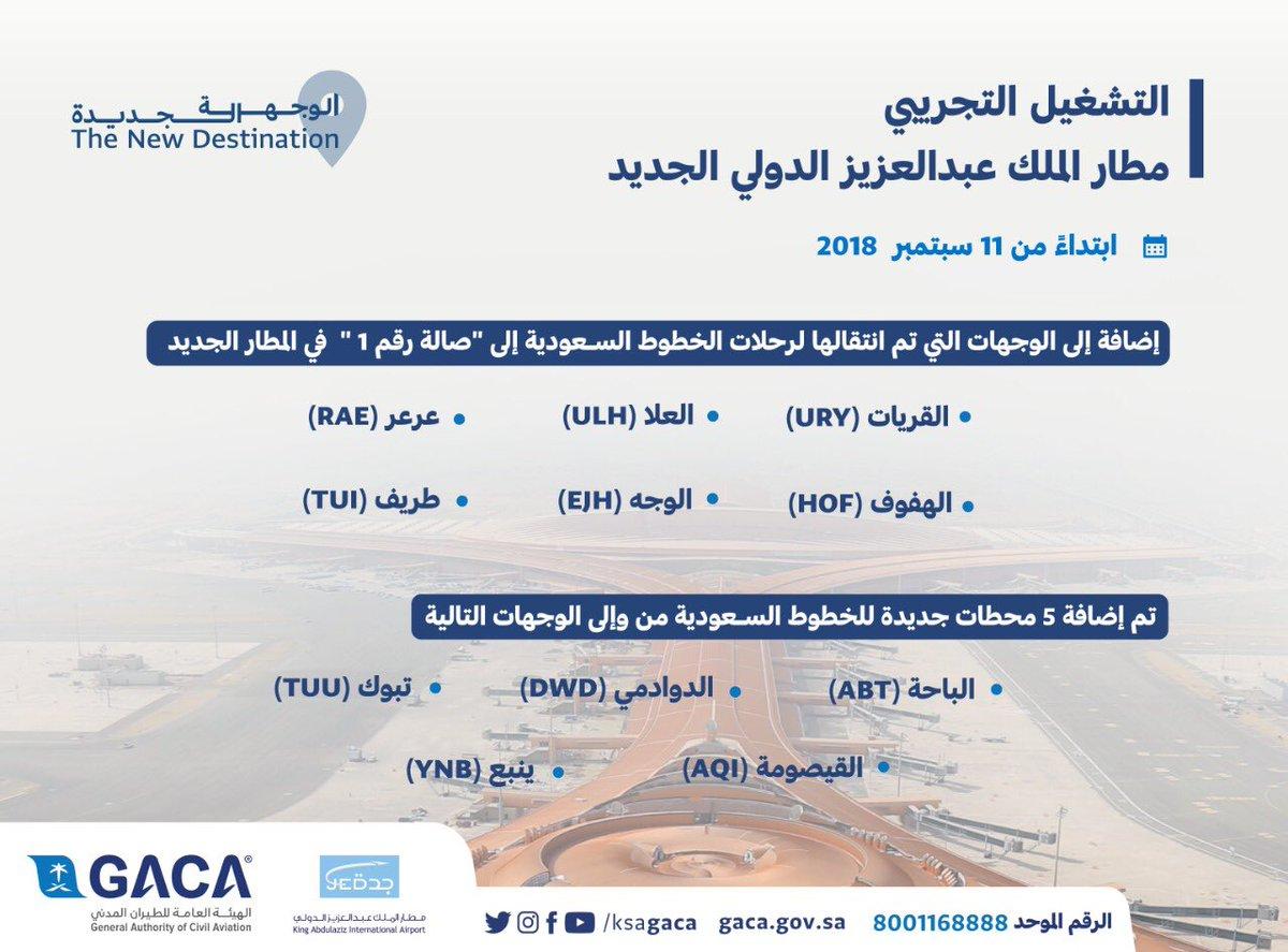 الخطوط السعودية تنقل 7 وجهات دولية وداخلية إلى مطار الملك عبدالعزيز الجديد