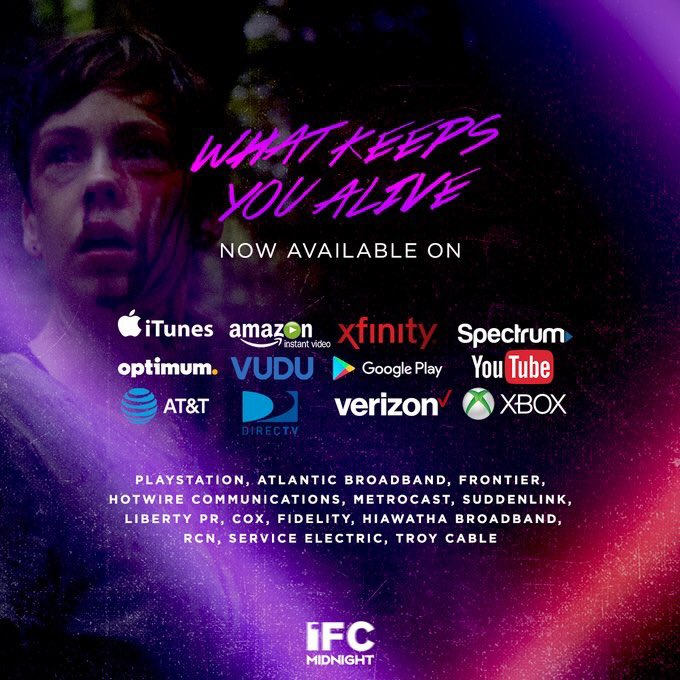 @withjetpacks WHAT KEEPS YOU ALIVE is available now on these VOD outlets!