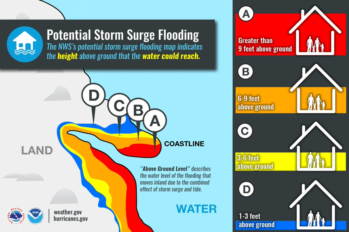 Potential Storm Surge Flooding Map on