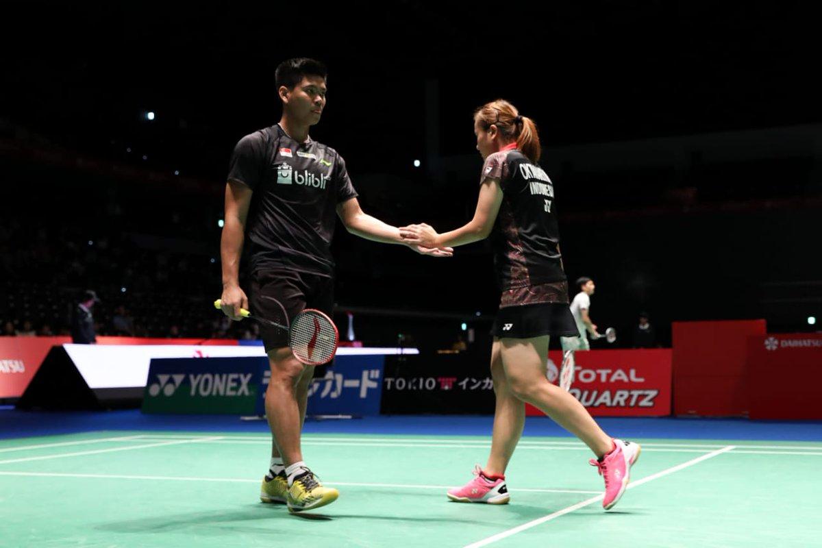 Pasangan ganda campuran Indonesia, Praveen Jordan/Melati Daeva Oktavianti.
