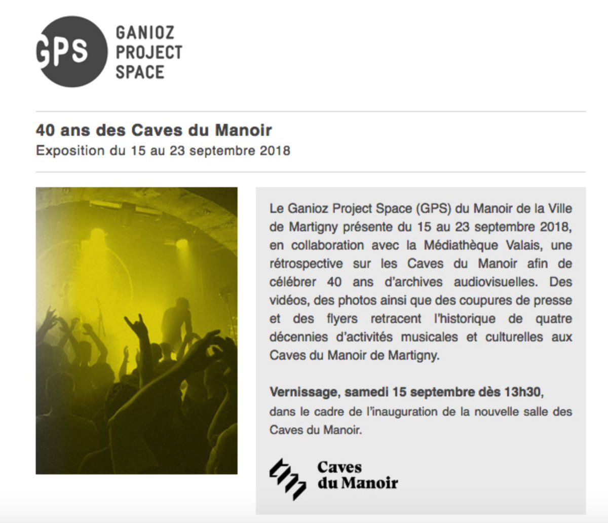 """Les Caves Du Manoir le manoir martigny on twitter: """"40 ans des caves du manoir"""