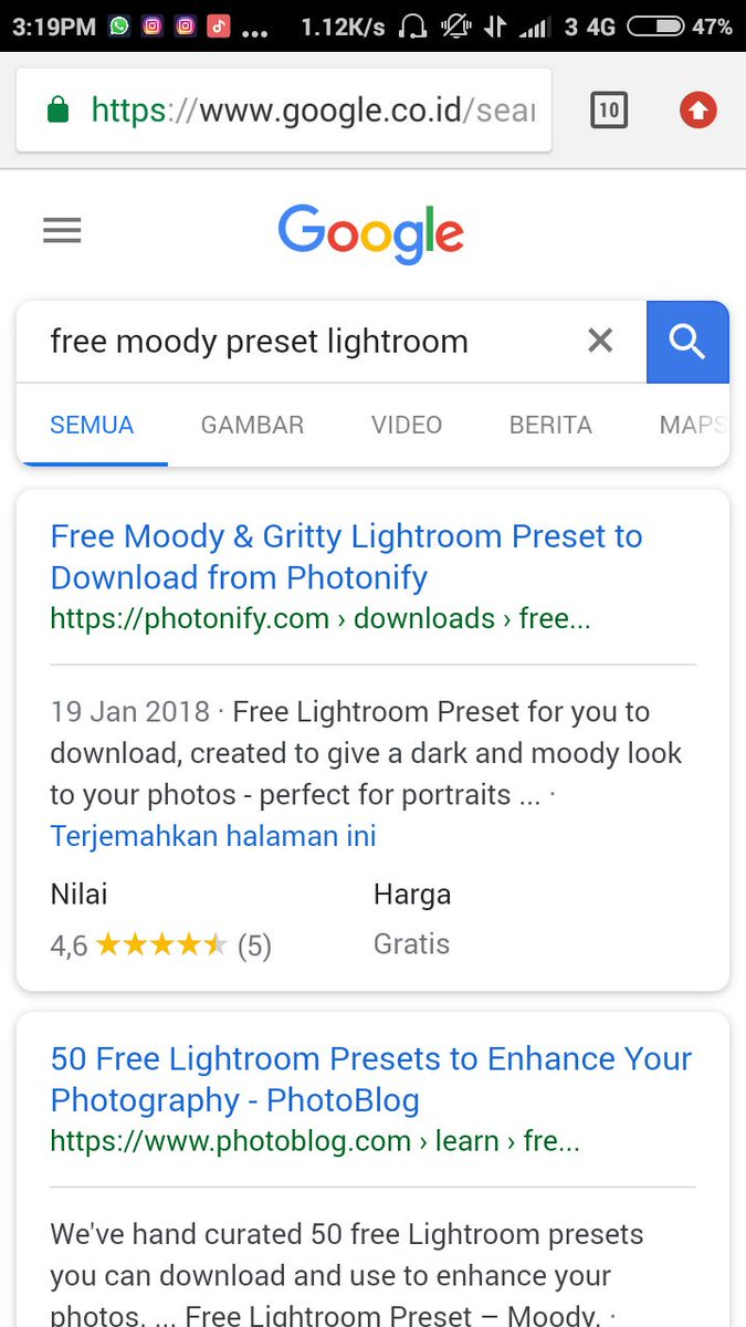 kumpulan rumus lightroom cc android
