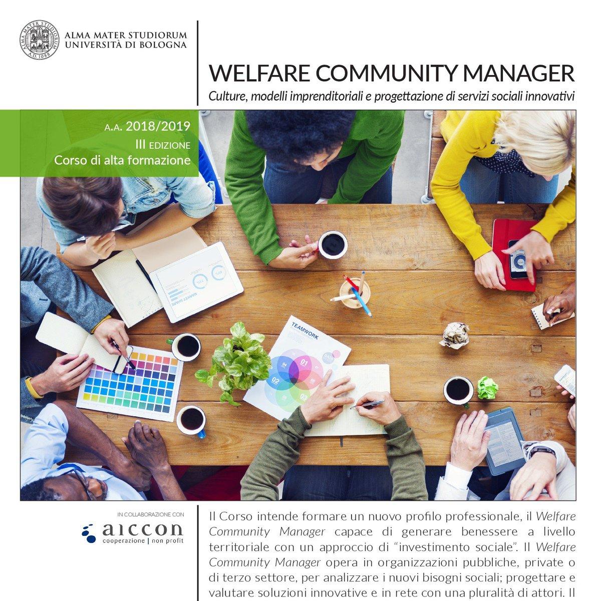 Come diventare #Welfare Community Manager?Sono aperte le iscrizioni alla III edizione del Corso di alta formazione in Welfare Community Manager dell'Università di Bologna in collaborazione con AICCON. SCARICA LA BROCHURE http://bit.ly/CAFwcm #nonprofit #terzosettore  - Ukustom