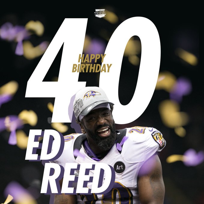 Happy 40th birthday to one of the greatest safeties of all time, Ed Reed!