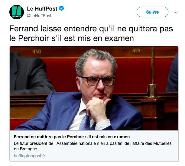 Https Www Huffingtonpost Fr  Richard Ferrand Ne Quittera Pas Le Perchoir Sil Est Mis En Examen_a_ Ncidtweetlnkfrhpmg