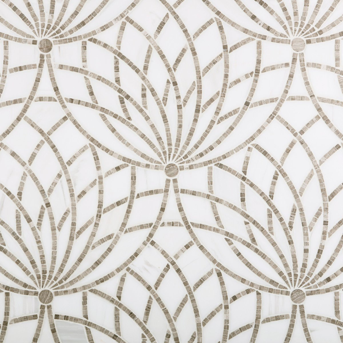 Artistic tile on twitter new luxor our tesserae stone mosaic artistic tile on twitter new luxor our tesserae stone mosaic rendition of the ancient egyptian lotus flower is now in stock in a beautiful grey blend izmirmasajfo