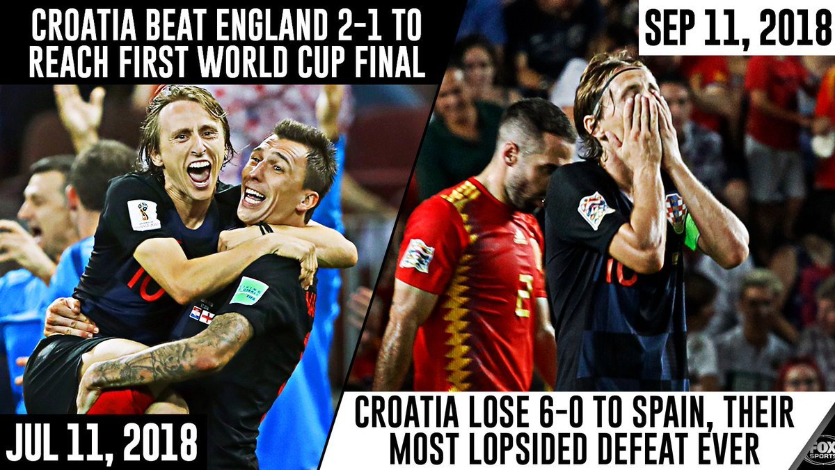 Exactly 2 months ago, Croatia celebrated their biggest win ever. Today... 🙈