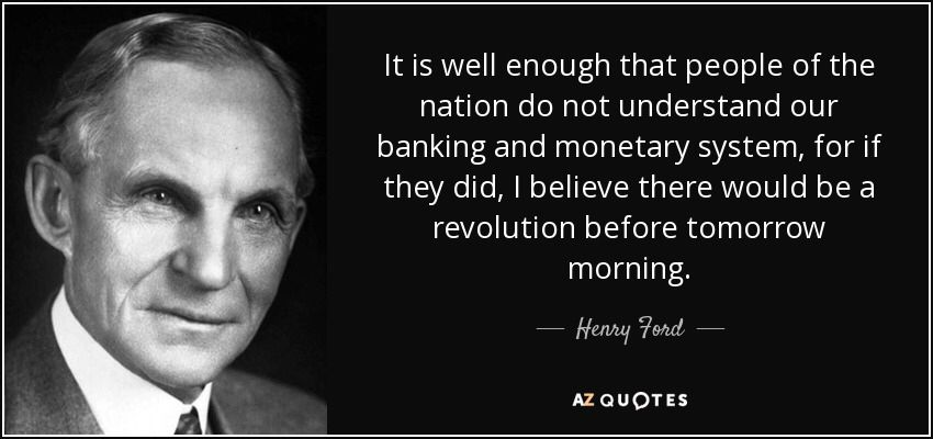 """ICO DOG on Twitter: """"It is well enough that people of the nation do not  understand our banking and monetary system, for if they did, I believe  there would be a revolution"""