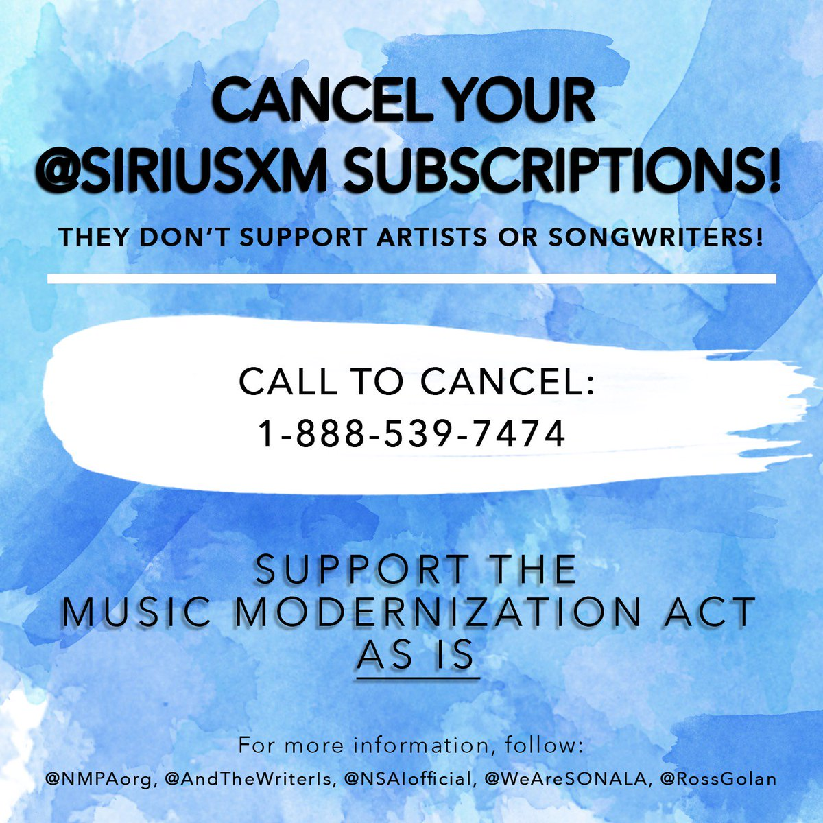 Siriusxm Cancel Subscription >> And The Writer Is On Twitter Music Army We Ve Seen Great Support