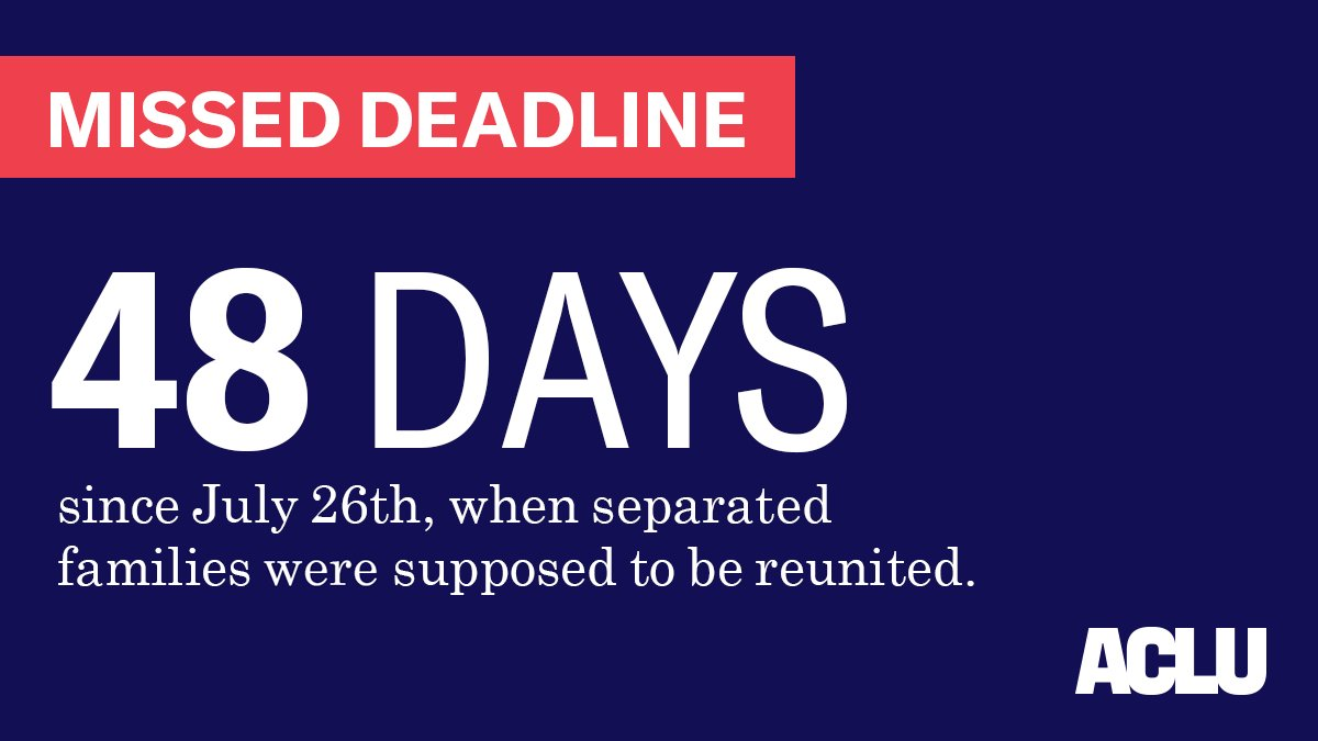 ��️ It's your daily reminder that 416 children remain in custody of the US government. https://t.co/OwHRkHpHHx