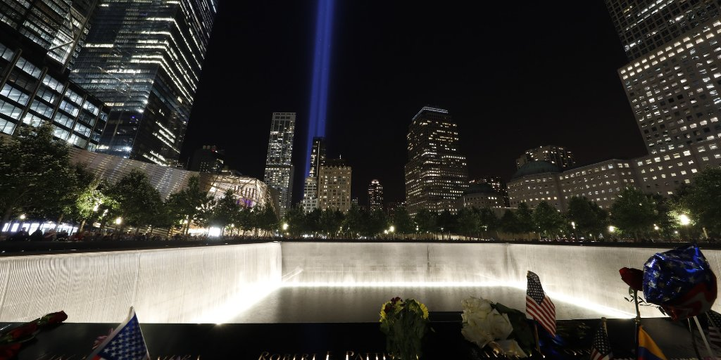 The #911Memorial will open to the public at 3:00 p.m. and remain open until midnight for a special viewing of #TributeInLight. https://t.co/AjC1V0GOhA