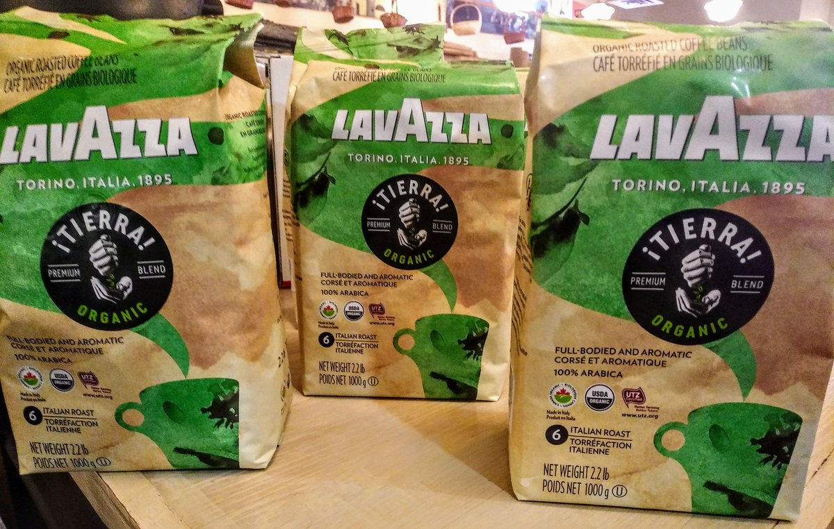 Il Negozio Nicastro On Twitter New To Our Lavazza Line Up 1000 Green Coffee Bean Tierra Organic Italian Roast Beans A Full Bodied And Aromatic With Hints Of Fruity Floral Flavor