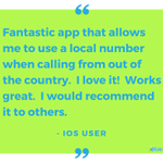 Make calls home for free + have friends and family call you as if your still local! #TestimonialTuesday #TravelTuesday