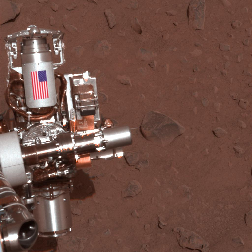 #NeverForget There is a 9/11 tribute on Mars. The hardware with the US flag on @MarsRovers Spirit is made of aluminum recovered from the World Trade Center towers site: https://t.co/fGr68XFy2w