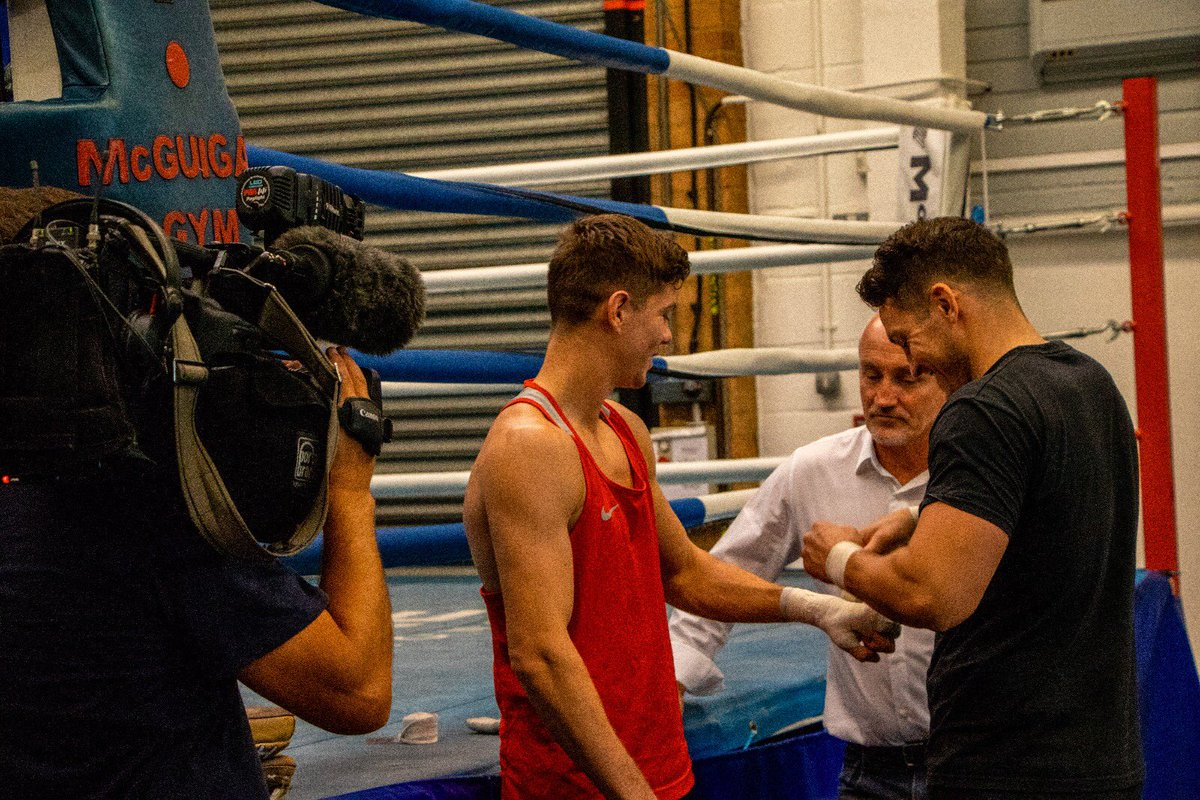 Strapping up for @itvcalendar 👊🏻 #TeamCampbell #CoolHand