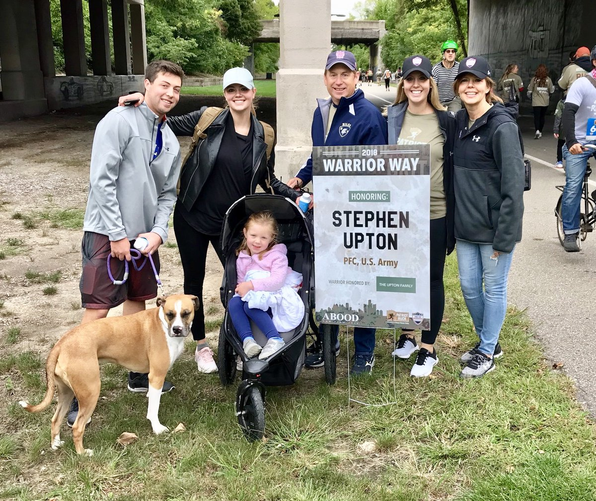 Honoring my grandfather this weekend while rucking in Downtown Detroit with my family #WWIIVeteran